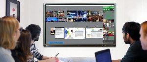 visioconférence sur écran interactif en entreprise